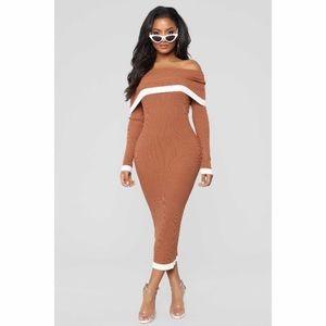 Fashion nova knee length sweater dress